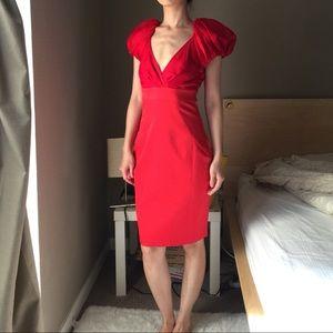 Ted Baker 100% Silk Red Dress.